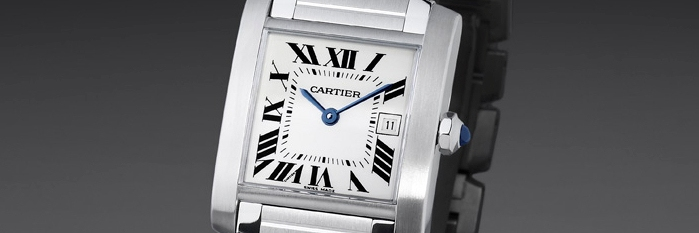 Cartier Steel Tank Francaise