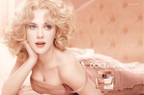 Scarlett Johansson D&G Rose The One fragrance