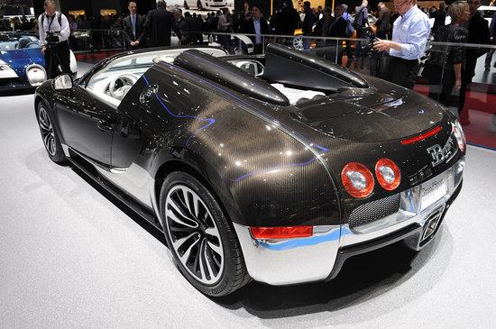 bugatti veyron grand sport grey and blue carbon