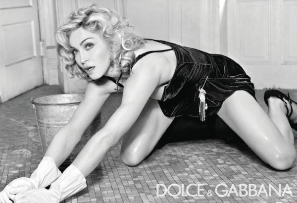 madonna washes the floor