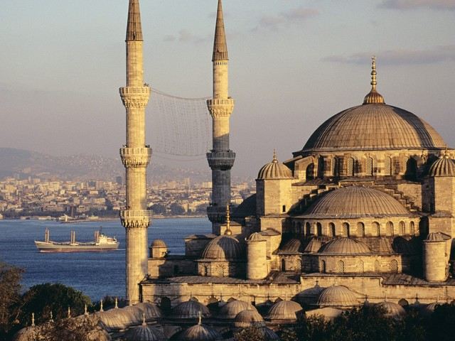 blue mosque and the bosphorus