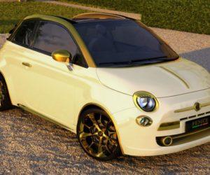 Gold Diamonds Fiat 500C
