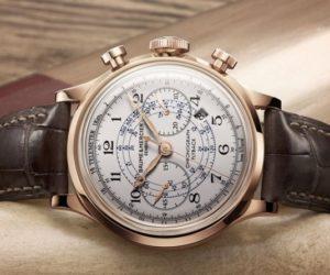 baume et mercier capeland chronograph red gold automatic watch