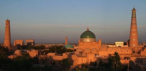uzbekistan silk towers