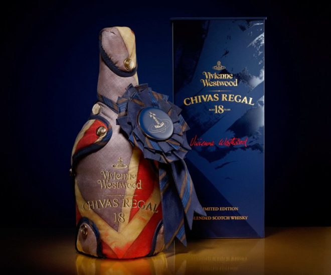 Chivas Regal 18 Vivienne Westwood Bottle and Box