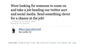 Marc Jacobs wants you as social media pro