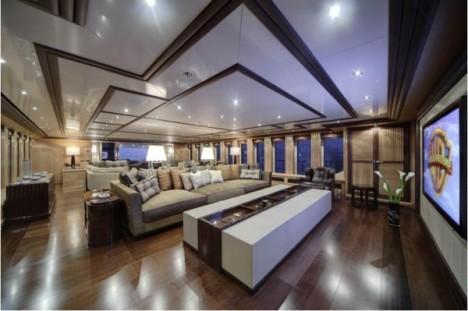 sirius super yacht cinema