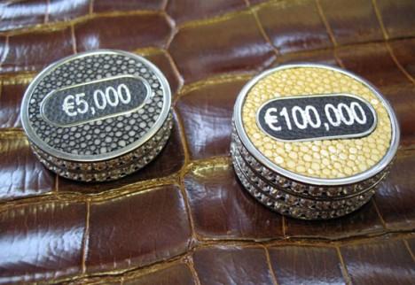 Geoffrey Parker poker set