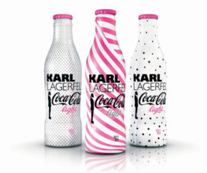 Karl lagerfeld coca cola light bottles