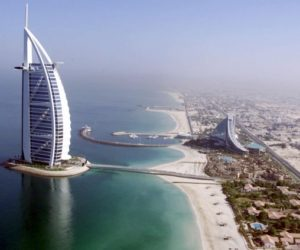 Aerial view luxury Burj Al Arab