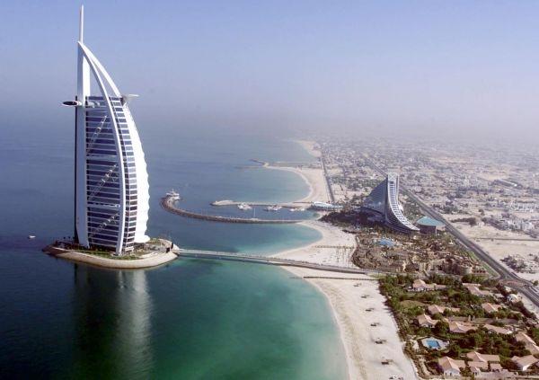 Aerial View Luxury Burj Al Arab