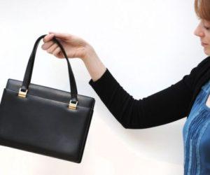British Prime Minister Margaret Thatcher handbag