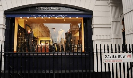 Gieves and Hawkes tailors shop