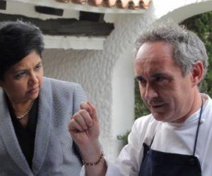 Indra Nooyi with Ferran Adria