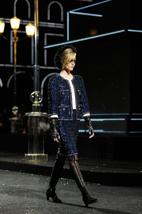 Navy Chanel Couture suit 2011