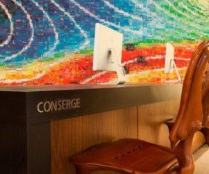 Concierge desk Le Meridien