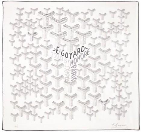 Goyard Scarf white