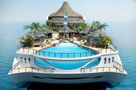 Tropical Island Paradise yacht pool