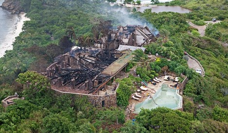 necker island destroyed
