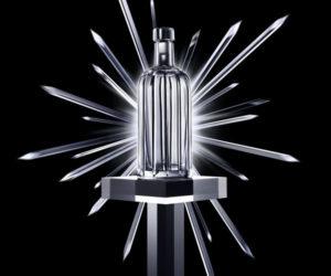Absolut Crystal Pinstripe bottle