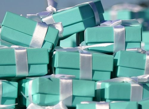 Tiffany popular blue gift wrapping