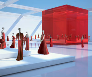 Valentino Museum Red Room