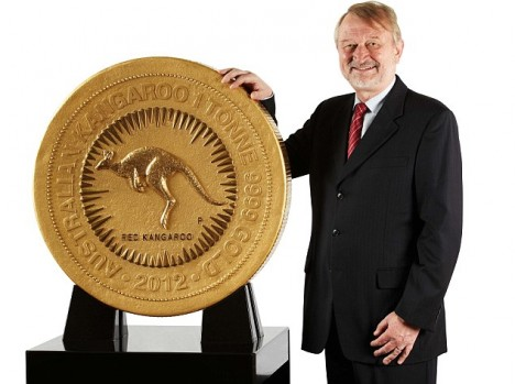 one tonne gold coin