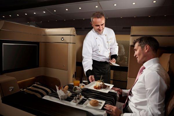 Etihad first-class passengers