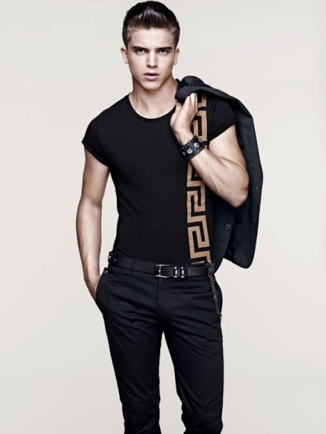 Smart male Versace for H&M look