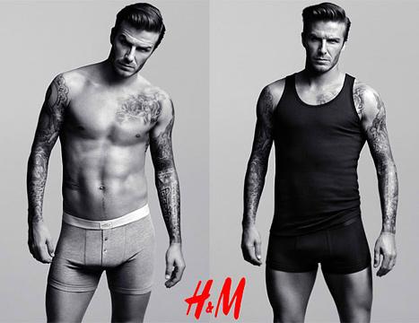 David Beckham H&M Underwear Ad