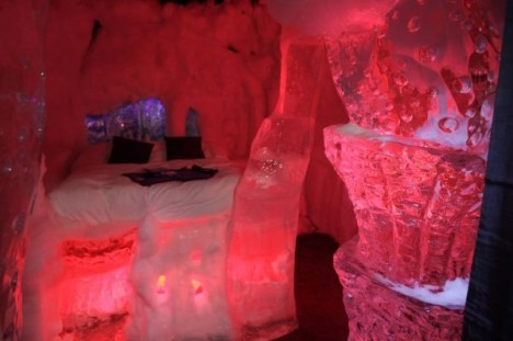 Dutch ice hotel room