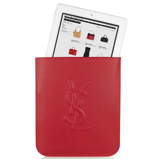 Yves Saint Laurent red iPad sleeve