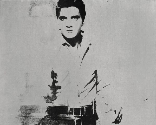 Andy Warhol Double Elvis painting