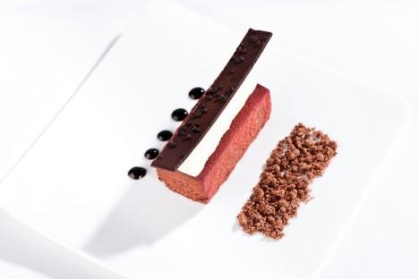 Chocolate Cake with Cherry Brandy Parfait