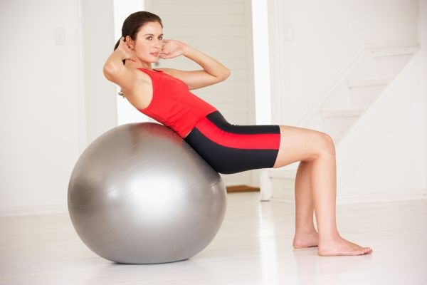 Swiss ball gym