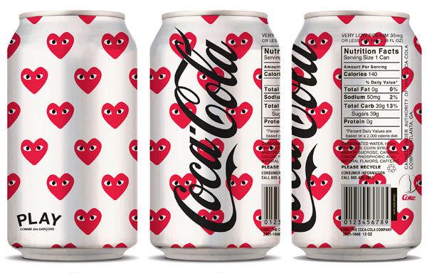 comme des garcons play coca cola light
