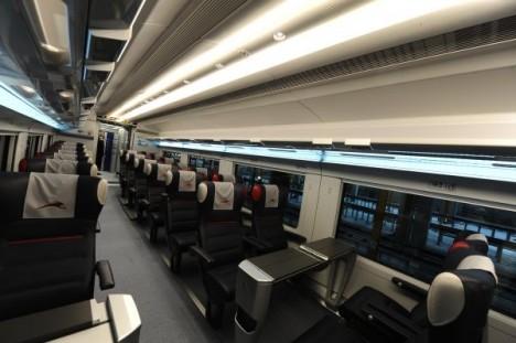 NTV high-speed train interior