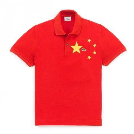 polo shirt lacoste flag china
