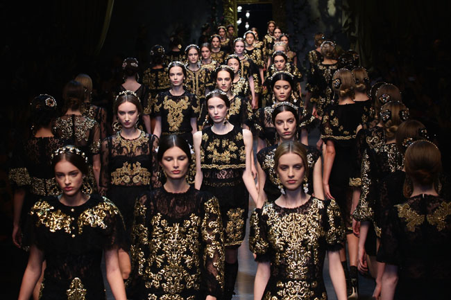 Dolce & Gabbana Womenswear Autumn Winter 2012