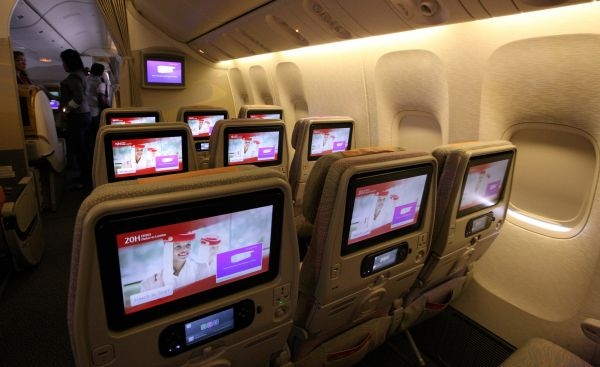 Emirates new inflight entertainment screens