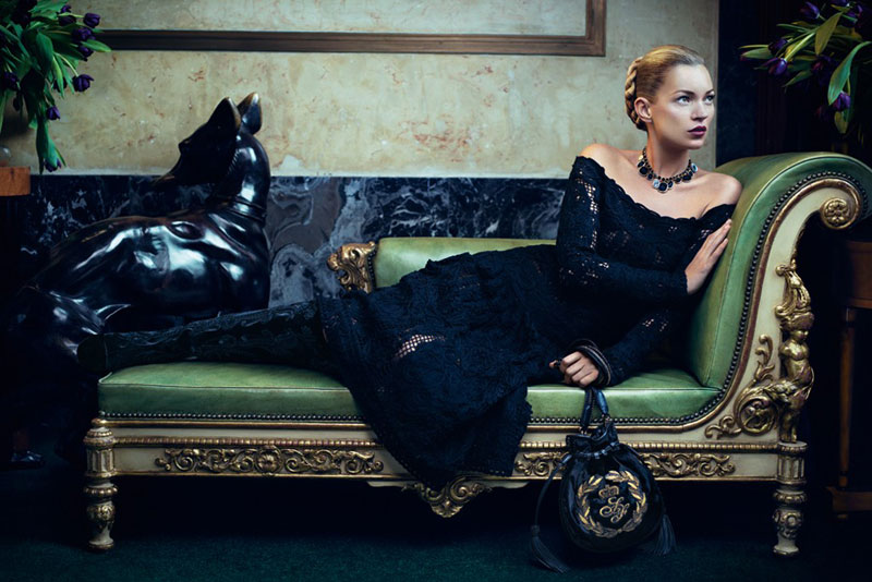Kate Moss Salvatore Ferragamo Fall 2012 Campaign