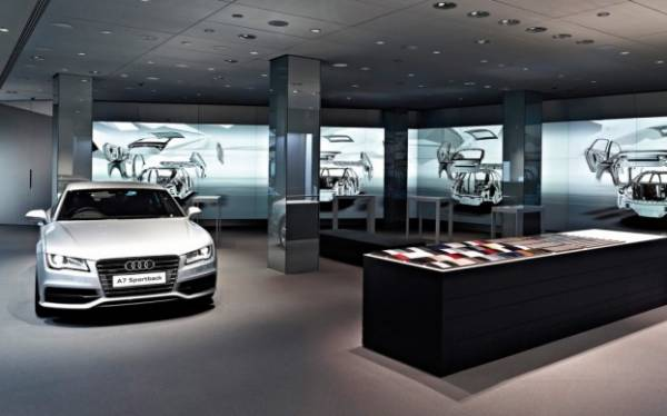 Audi digital London showroom