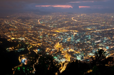 Bogota Colombia at night