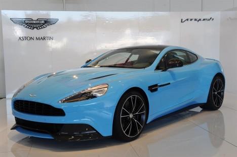 Aston Martin Vanquish Blue