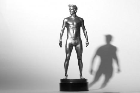 David Beckham mini statue