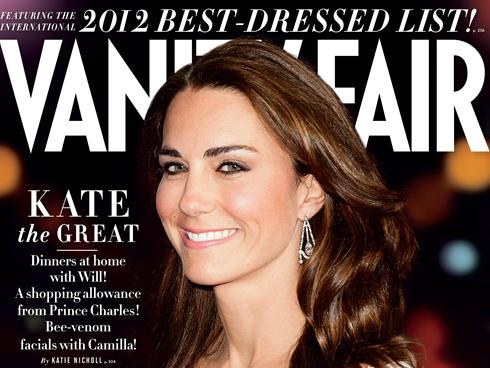 Kate Middleton Vanity Fair Best Dressed List 2012