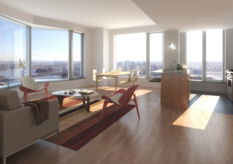 New York by Gehry Residential Tower interior