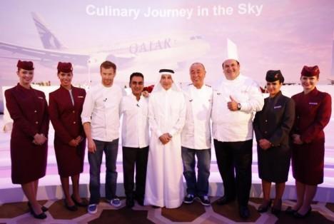Qatar Airways world renowned chefs