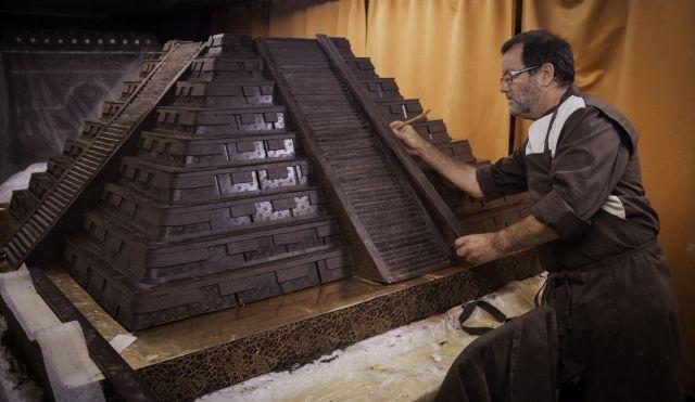 Aztec chocolate sculpture