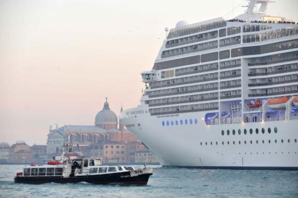 Cruise ships lagoon of Venice